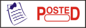 "This pre-inked rubber stamp comes pre-assembled with the text ""POSTED."" The stamp is built with quality and has the capabilty to be re-inked."