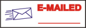 "This pre-inked rubber stamp comes pre-assembled with the text ""EMAILED."" The stamp is built with quality and has the capabilty to be re-inked."