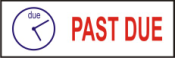 "This pre-inked rubber stamp comes pre-assembled with the text ""PAST DUE."" The stamp is built with quality and has the capabilty to be re-inked."