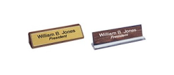 Engraved Signs w/Holders