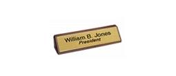 Walnut Holder & Name Plate