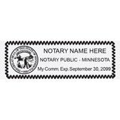 MN-NOT-RECT - Rectangular Minnesota Notary Stamp