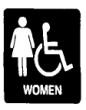 G03STOCKPIC-07677 - Stock Pictogram - Women/Handicap<BR>G03